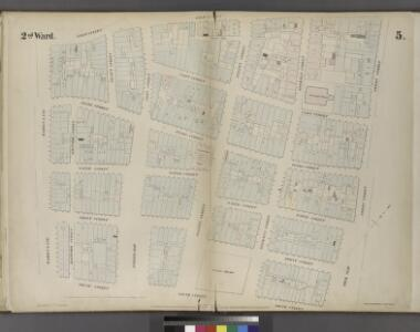 [Plate 5: Map bounded by Gold Street, Ferry Street, Peck Slip, South Street, Maiden Lane.]