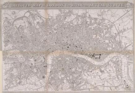 IMPROVED MAP OF LONDON for 1834, from AN ACTUAL SURVEY