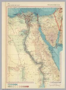 U.A.R. (United Arab Republic) - Lower Nile Valley.  (Egypt)  Pergamon World Atlas.