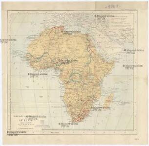 Eisenbahn- und Wege-Karte von Afrika