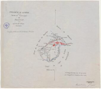 Mapa planimètric d'Hostalric
