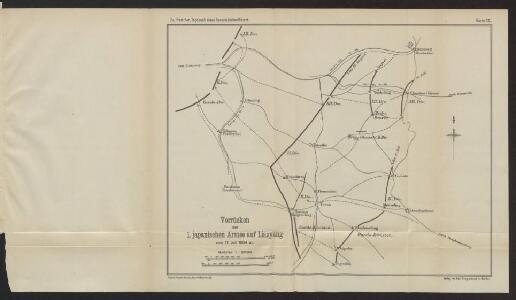 Vorrücken der 1. japanischen Armee auf Liaoyang vom 17. Juli 1904