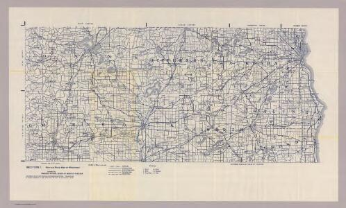 Section 1. Bicycle Road Map of Wisconsin.
