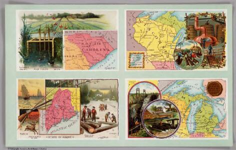 South Carolina, Wisconsin, Maine, Michigan.