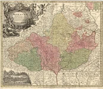 Moravia Marchionatus in sex Circulos divisus juxta recentissimam dimensionem et accuratissimas Observationes