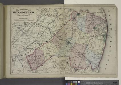 Topographical Map of Monmouth Co., New Jersey.
