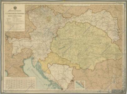 Übersichtskarte der k.k. österreichische Staatsbahnen