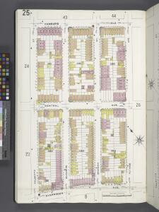 Brooklyn V. 9, Plate No. 25 [Map bounded by Hamburg Ave., Putnam Ave., Evergreen Ave., Palmetto St.]