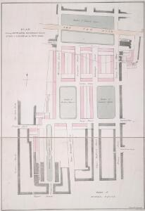 PLAN Showing INTENDED BUILDINGS between RUSSELL SQUARE and the NEW ROAD