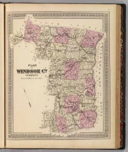 Plan of Windsor Co., Vermont.