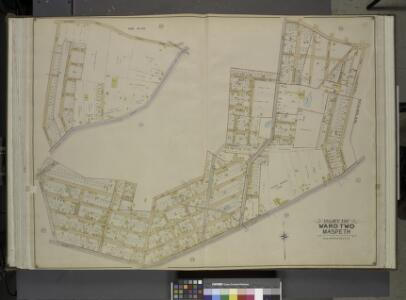 Queens, Vol. 2, Double Page Plate No. 20; Part of     Ward Two Maspeth; [Map bounded by Maurice Ave., Jay Ave., Nielson St., Buerman   PL., Hull Ave., Prospect Ave., Linden St., Elm St., Fulton St.; Including        Franklin St., Fisk Ave., Calamus Ro
