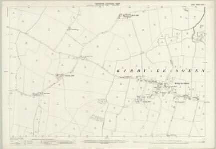 Essex (1st Ed/Rev 1862-96) XXXIX.1 (includes: Frinton and Walton; Thorpe Le Soken) - 25 Inch Map