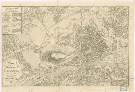 Plan der k.k Provinzial-Hauptstadt Grätz im Herzogthum Steyermark
