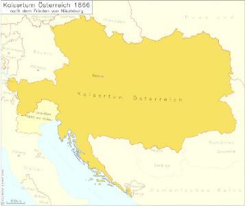 Kaisertum Österreich 1866 nach dem Frieden von Nikolsburg