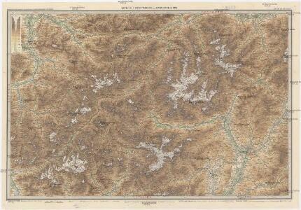 Karte der West-Tiroler und Engadiner Alpen
