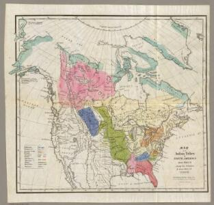 Map of the Indian Tribes of North America.