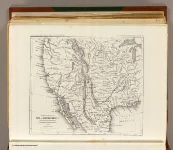 Reduced section, map of North America, 1826.