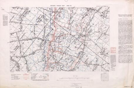 Brigade Trench Map. Area M. 1916