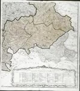 Carte des départements des Hautes Alpes de l'Isere, et de la Drome, no. 4