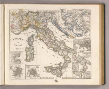 Italien von 1270 bis 1450.
