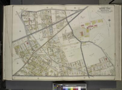 Queens, Vol. 2, Double Page Plate No. 32; Part of     Ward Two Melvina Maspeth Linden Hill East Williamburgh; [Map bounded by Maspeth  Ave., Grand St., Flushing Ave., Fresh Pond Road, Including Mount Olivet Ave.,    Metropolitan Ave., Grarrison Ave.,