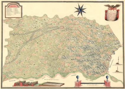 Mappa Der Grenz Scheidung Des Banat Temeswar Von Anno 1749 Mit Den Türken Geschlosen Von Herren General Feldmarschaů Lieutinont Freiheren Frantz Von Engelshofen A. 1749