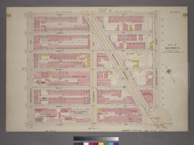 Plate 1, Part 1 of Section 4: [Bounded by W. 65th Street, Central Park West, W. 59th Street and Amsterdam Avenue.]