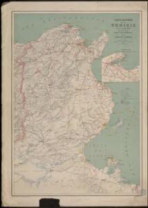Carte routière de la Tunisie au 1er janvier 1904