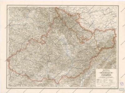 Handkarte der Markgrafschaft Mähren und der Herzogthums Schlesien
