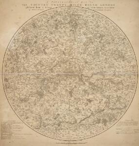 A TOPGRAPHICAL MAP OF THE COUNTRY TWENTY MILES ROUND LONDON