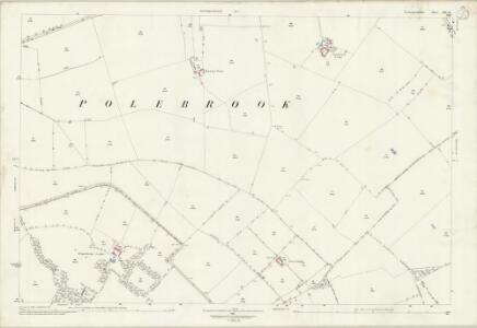 Northamptonshire XIX.11 (includes: Hemington; Lutton; Polebrook) - 25 Inch Map