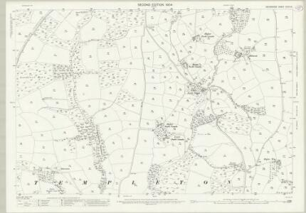 Devon XXXIII.16 (includes: Templeton; Tiverton; Witheridge) - 25 Inch Map