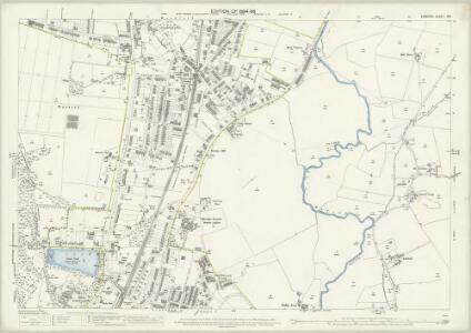 London (Edition of 1894-96) XVI (includes: Ilford; Wanstead; Woodford) - 25 Inch Map