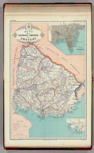 Mapa de la Republica Oriental del Uruguay.