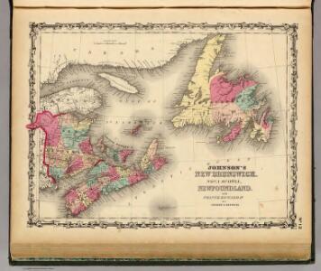 New Brunswick, Nova Scotia, Newfoundland. and Prince Edward Id.