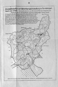 Einödblöckeflur mit Gehöftgruppensiedlung im Tertiärhügelland von Stein