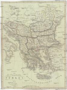 Karte von der europäischen Türkey