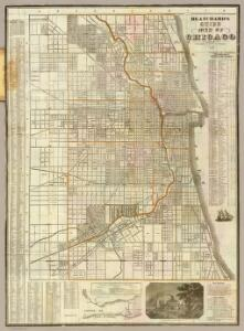 Cover: Blanchard's guide map of Chicago.