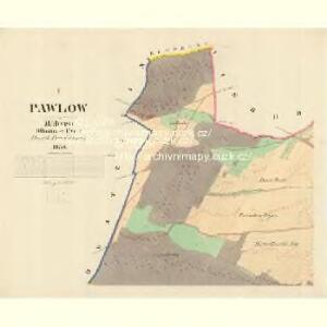 Pawlow - m2239-1-001 - Kaiserpflichtexemplar der Landkarten des stabilen Katasters