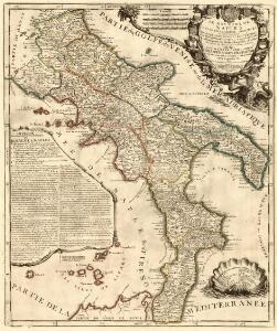 Le Royaume De Naples Divisé En Ses Douze Provinces