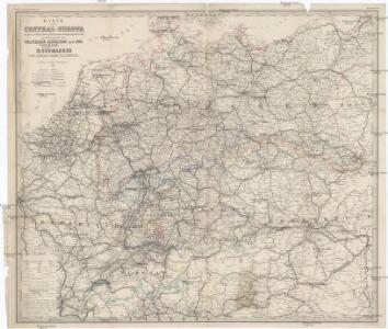 Karte von Central-Europa bis Paris, Mailand, Triest, Pesth, Krakau, Königsberg, Schleswig