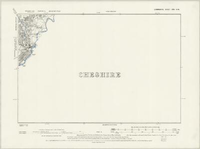 Lancashire CXI.SE - OS Six-Inch Map