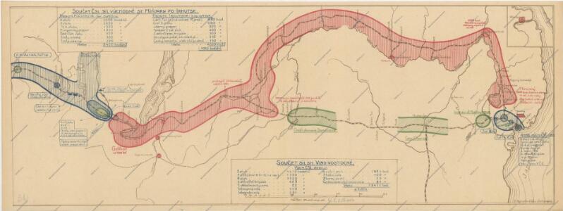 Schema historických momentů československ. vojenských operací na Sibiři 1918-1919