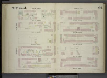 [Plate 91: Map bounded by West 32nd Street, Eighth Avenue, West 27th Street, Tenth Avenue.]