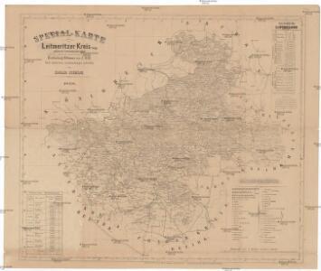 Special-Karte des Leitmeritzer Kreis, resp. politisch Verwaltungsbezirkes nach der politischen Eintheilung Böhmens vom J. 1868