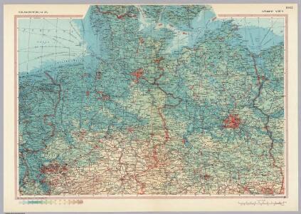Germany - North.  Pergamon World Atlas.