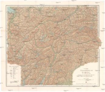G. Freytags Übersichtskarte von Tirol, Voralberg und den angrenzenden Teilen von Bayern, der Schweiz und Italien