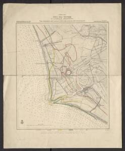 Tirreno-Italia. Foci del Tevere e litorale adjacente, piano dimostrativo delle variazioni della costa avvenute nelle diverse epoche