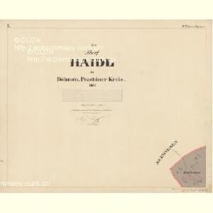 Haid - c9266-1-001 - Kaiserpflichtexemplar der Landkarten des stabilen Katasters
