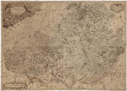Tabula generalis marchionatus Moraviae in sex circulos divisae